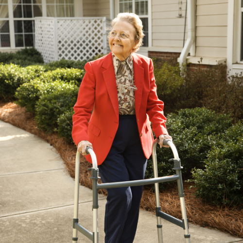 Picture of older women with a walker
