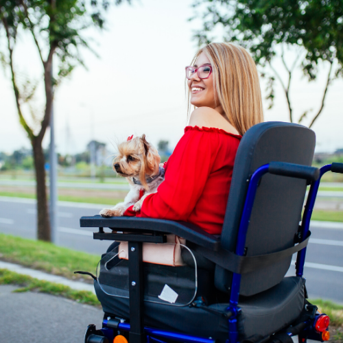 Picture of young women in a wheelchair
